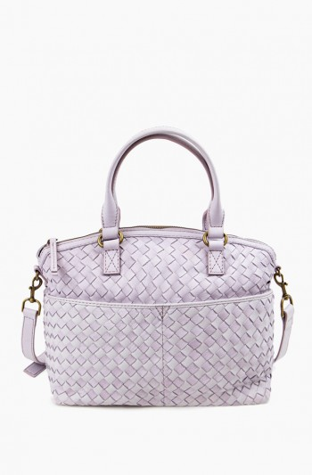 Carrie Dome Satchel Woven, Lilac