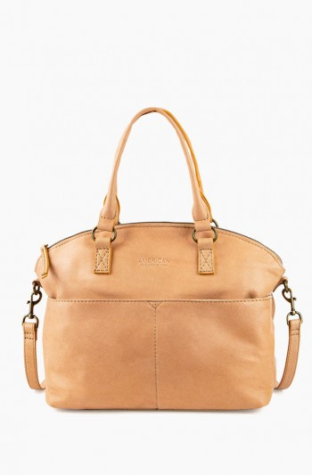 Carrie Dome Satchel, Butter Rum