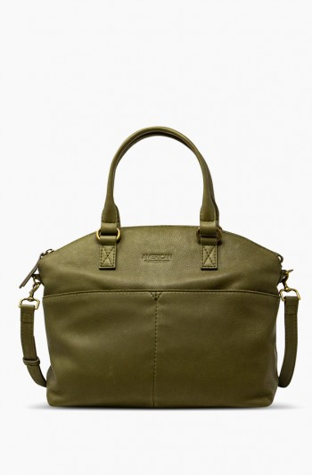 Carrie Dome Satchel, Olive