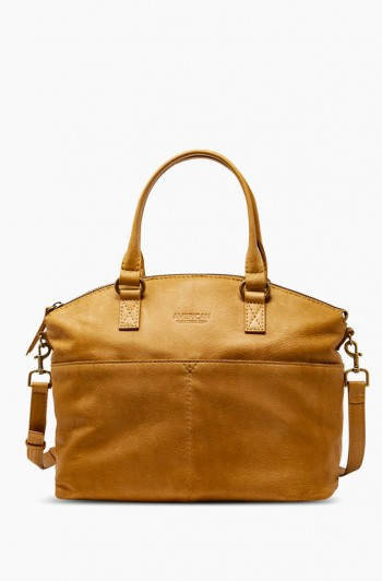 Carrie Dome Satchel, Terracotta