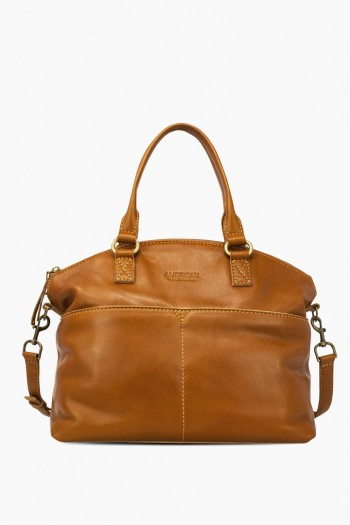 Carrie Dome Satchel, Cafe Latte
