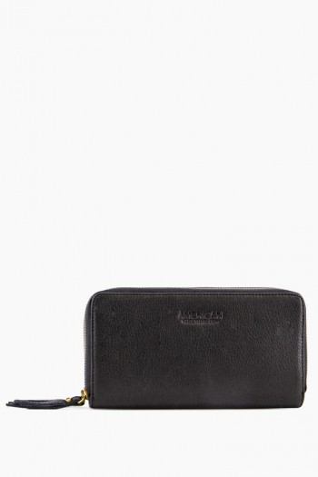 Dallas Double-Zip Wallet, Black