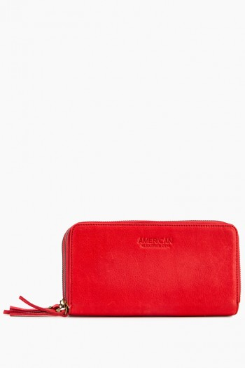 Dallas Double-Zip Wallet, Heritage Red