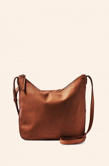 Dayton Crossbody, Brandy Smooth