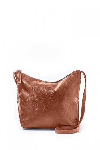 Dayton Crossbody, Brandy Tooled