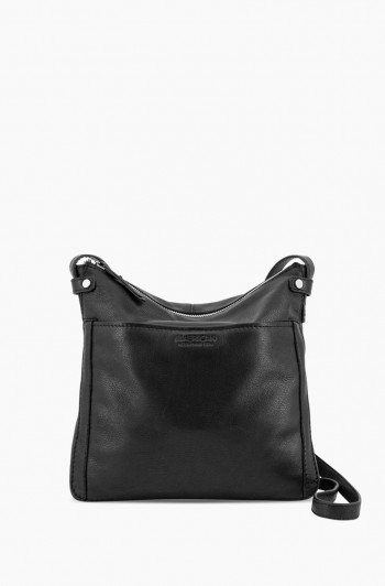 Evansville Flat Crossbody, Black