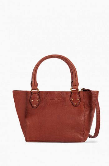 Frenchie  Mini Tote, Brandy
