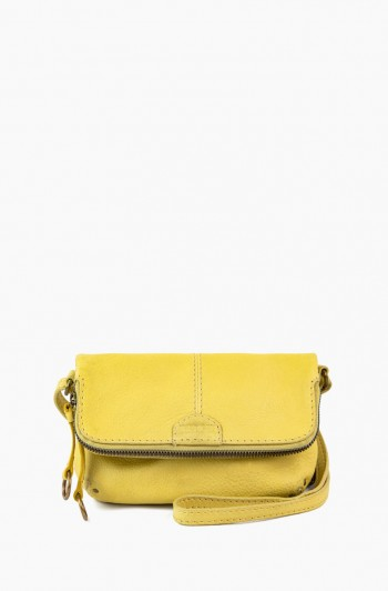 Ithaca Double Entry Crossbody, Pale Yellow