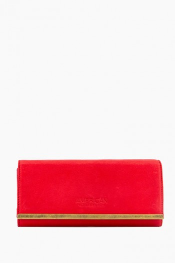 Jackson Tri-Fold Wallet, Heritage Red