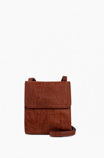 Kansas Crossbody, Brandy Tooled