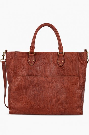 Kelly Tote, Brandy Tooled