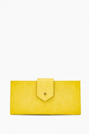 Little Rock Bifold Wallet, Pale Yellow Tooled