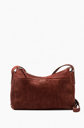 Maryland Crossbody, Brandy Tooled