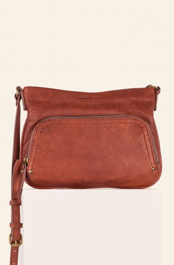 Ridgewood Zip-Around Crossbody, Brandy Smooth