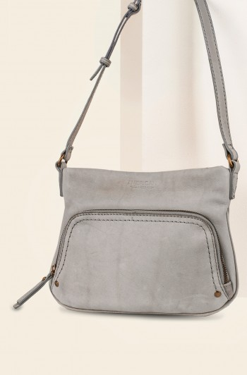 Ridgewood Zip-Around Crossbody, Granite Smooth