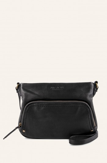 c54ca718d Ridgewood Zip-Around Crossbody, Black Smooth