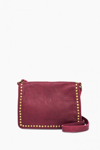 Roslyn Flap Crossbody, Bordeaux Tooled