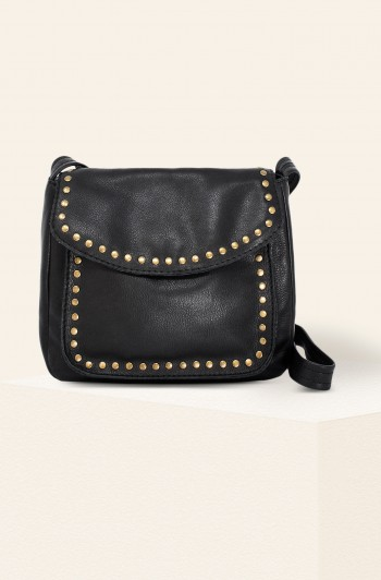 Roslyn Vintage Crossbody, Black Smooth
