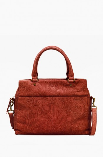 Sequoia Satchel, Brandy Tooled